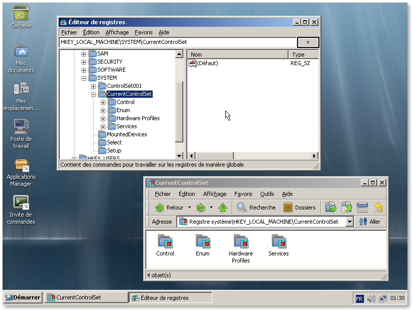 ReactOS regedit