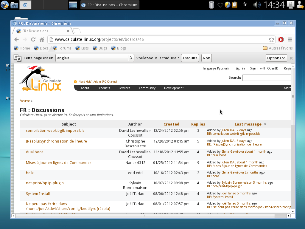 Forum FR de Calculate Linux