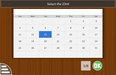 Activité de calendrier