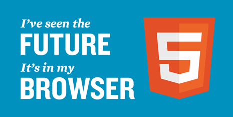 HTML5 Logo - I have seen the future, it's in my browser