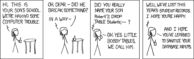 Le XKCD réglementaire : Exploits of a Mom