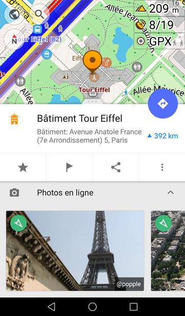Mapillary dans OsmAnd : photos des lieux