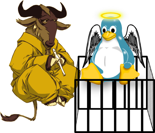 levitating gnu and Lux