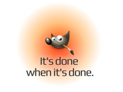 GIMP: It's done when it's done