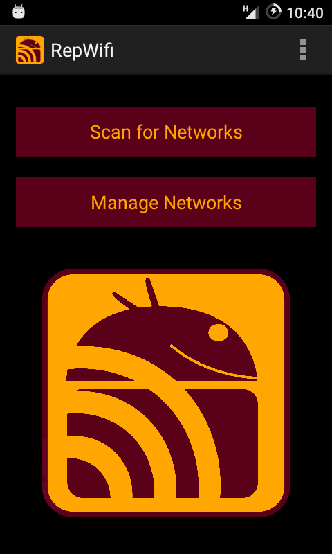 Capture d'écran de l'application RepWifi de Replicant 6.0