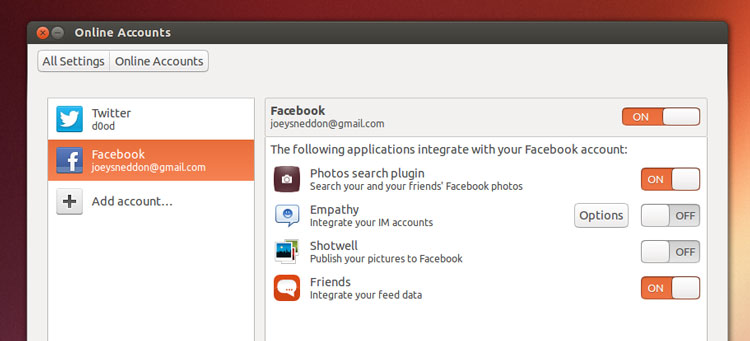 Online Accounts - Source : OMG! Ubuntu!