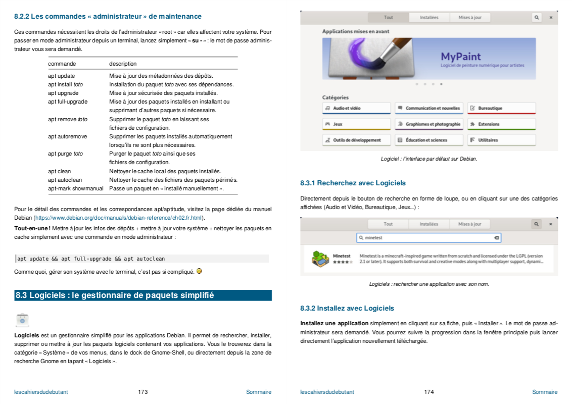 gestion des applications