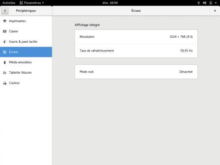 Nouvelle interface des paramètres de GNOME