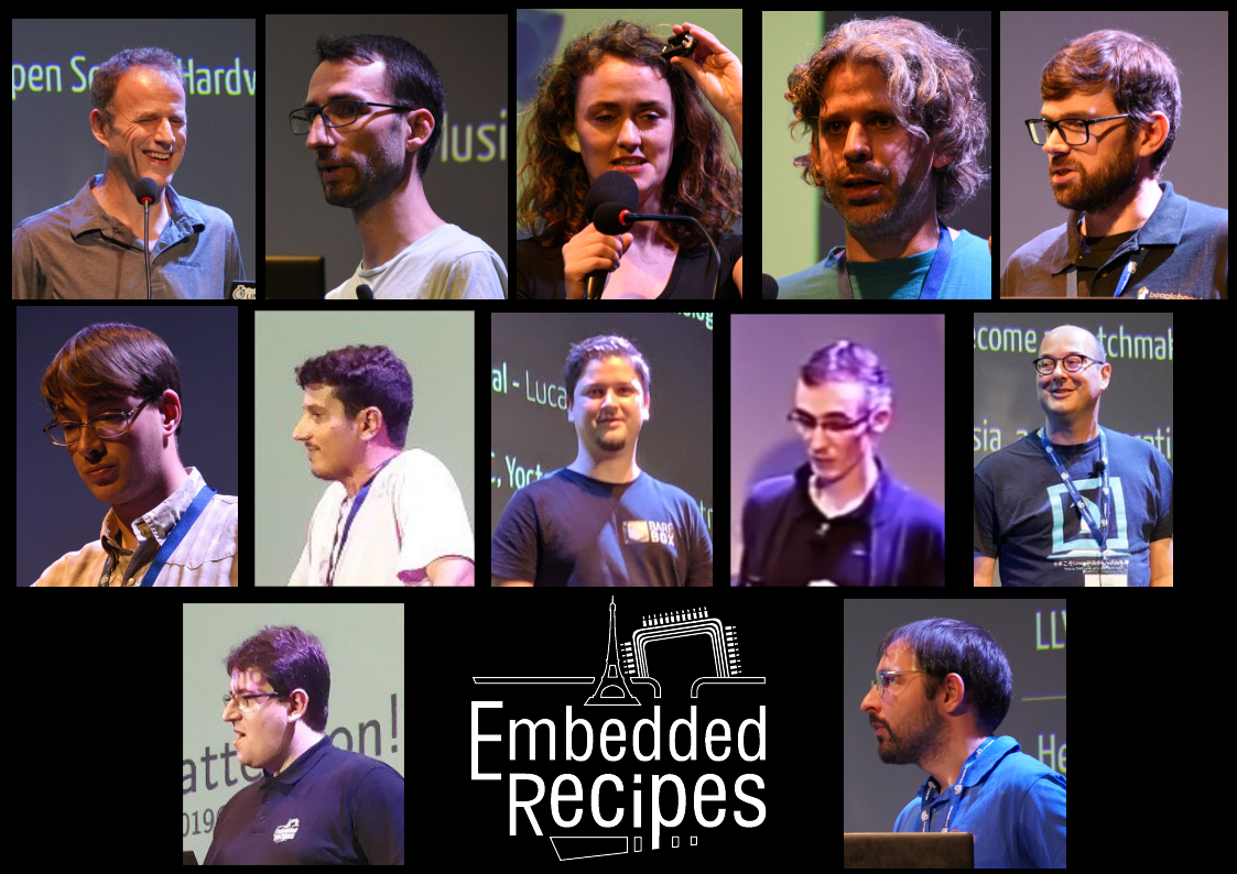 Intervenants d'Embedded Recipes