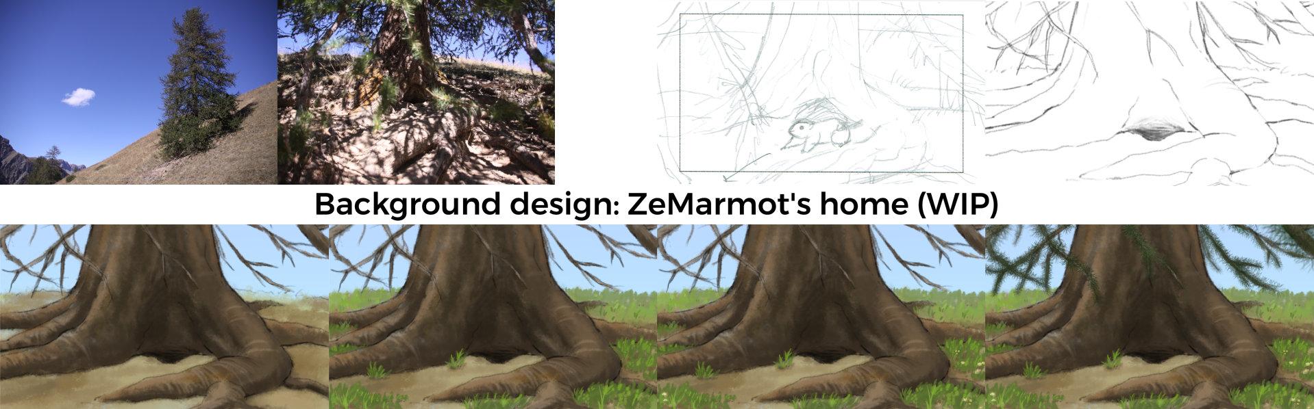 Design du terrier de ZeMarmot