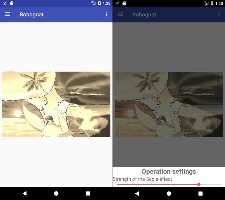 Robogoat: modification d'images avec GEGL sur Android