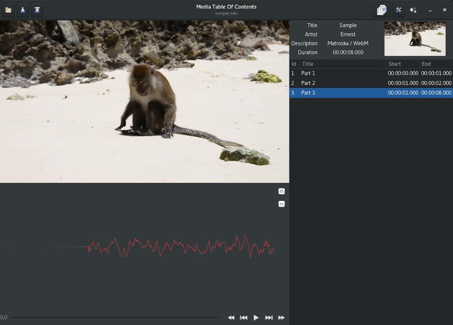 media-toc : prototype basé sur FFmpeg