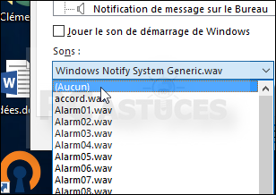 Gestion des sons Windows
