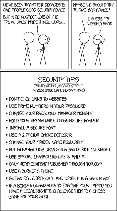 XKCD Security Advice