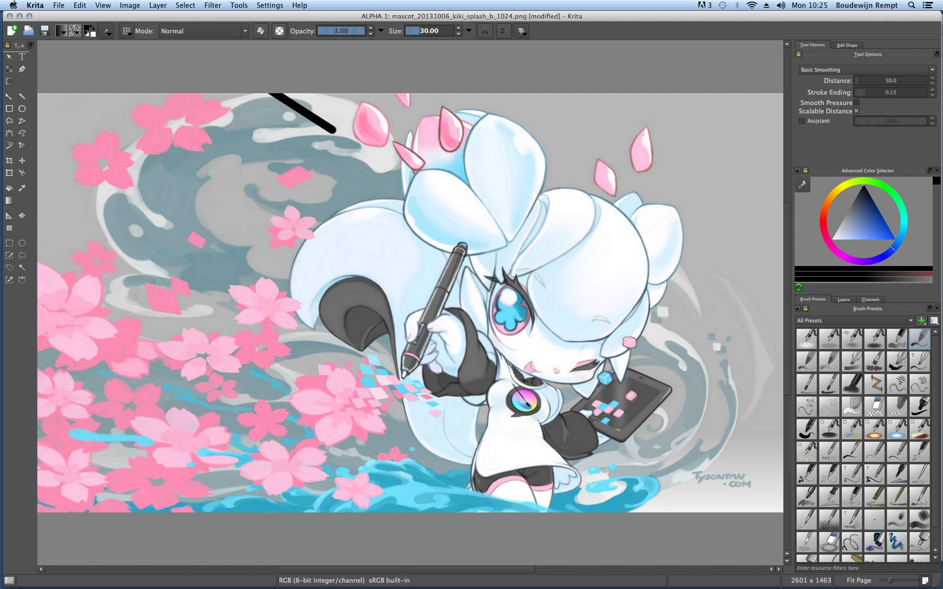 interface de Krita