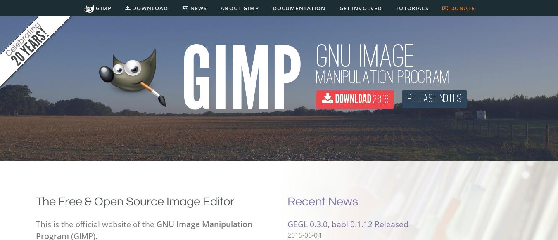 Nouveau site de GIMP