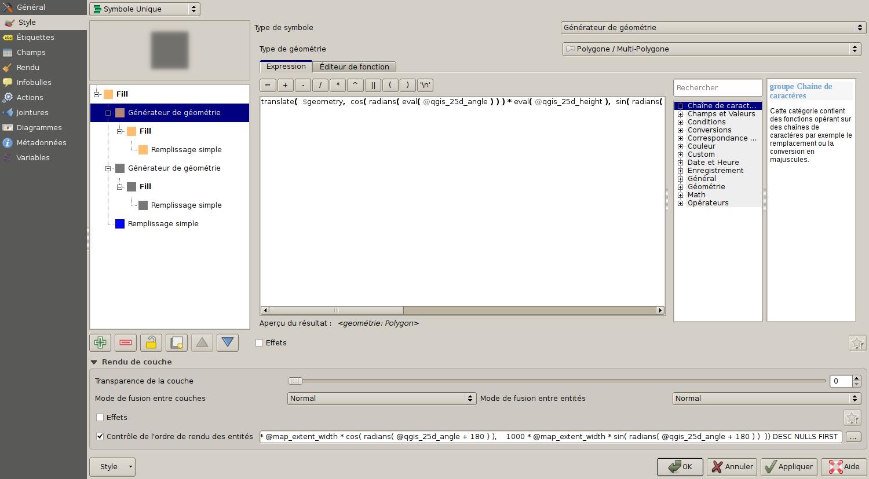 QGIS 2.5D avancé