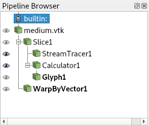Paraview pipeline browser
