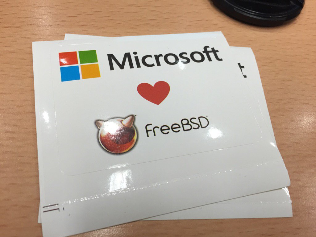 microsoft love freebsd