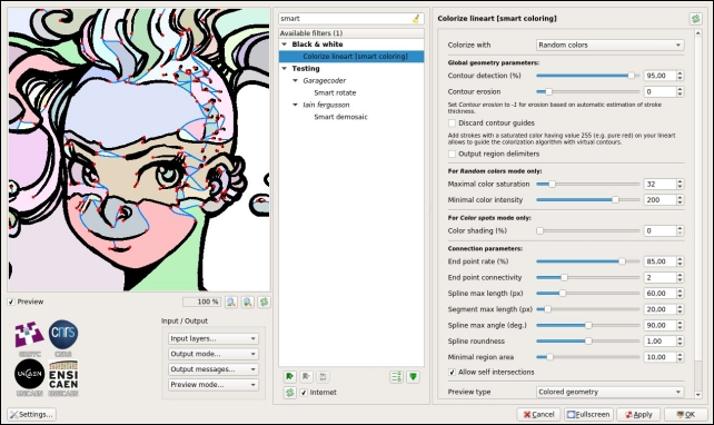 filtre «Colorize lineart [smartcoloring]»