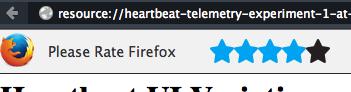 battements de cœur pour noter Firefox