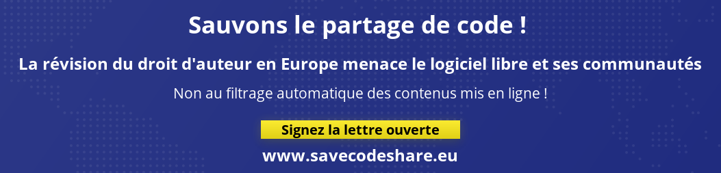 Bannière Save code share